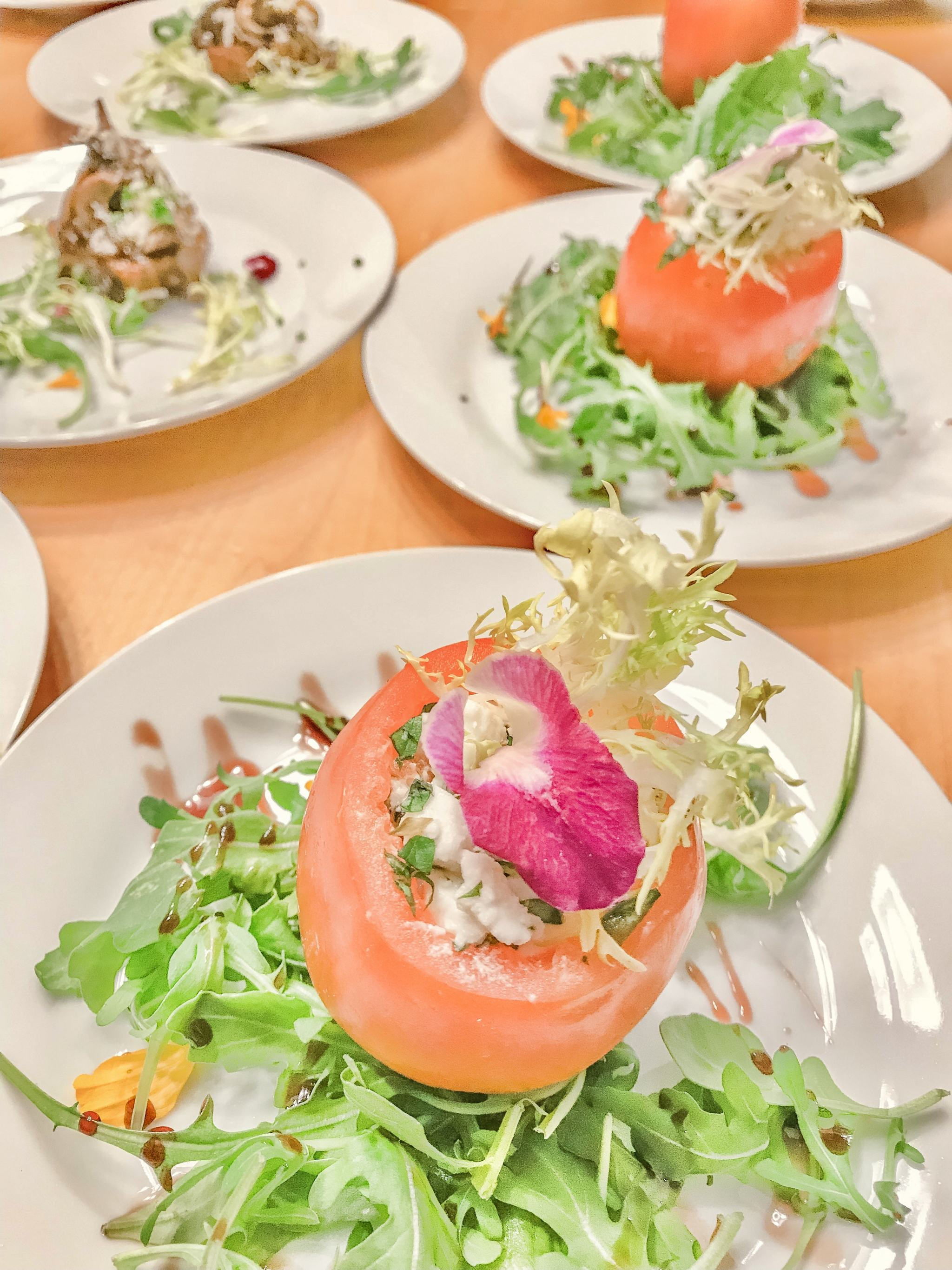 Bijuleni - Ste Anne's All Inclusive-Spa Resort - Private Chef Dinner Experience - Tomato stuffed Salad