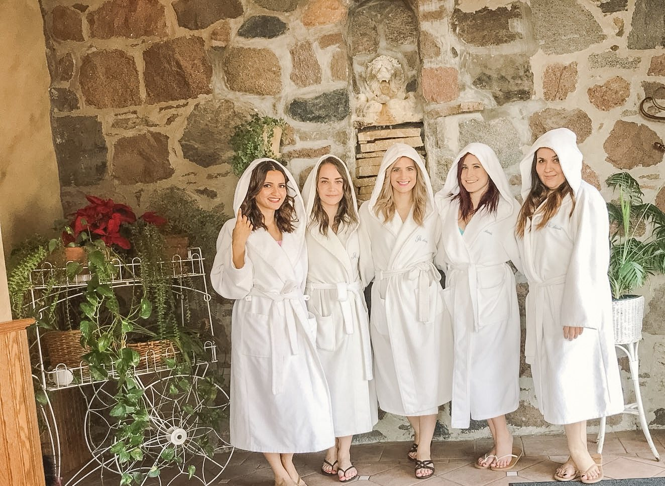Bijuleni - Ste Anne's All Inclusive-Spa Resort - Girls in robes ready for spa treatments