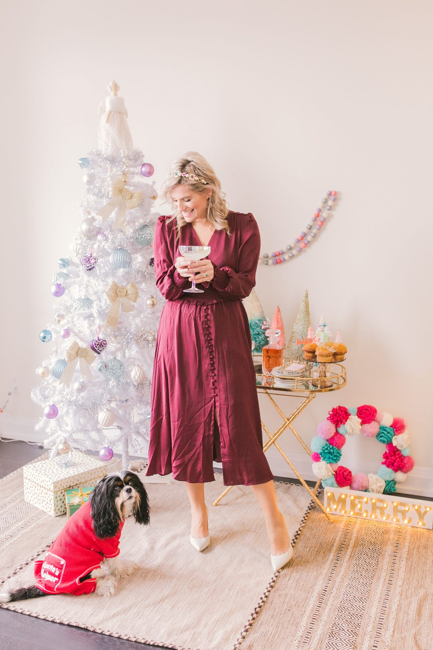 5 Easy Tips for Styling Your Holiday Bar Cart - Bijuleni