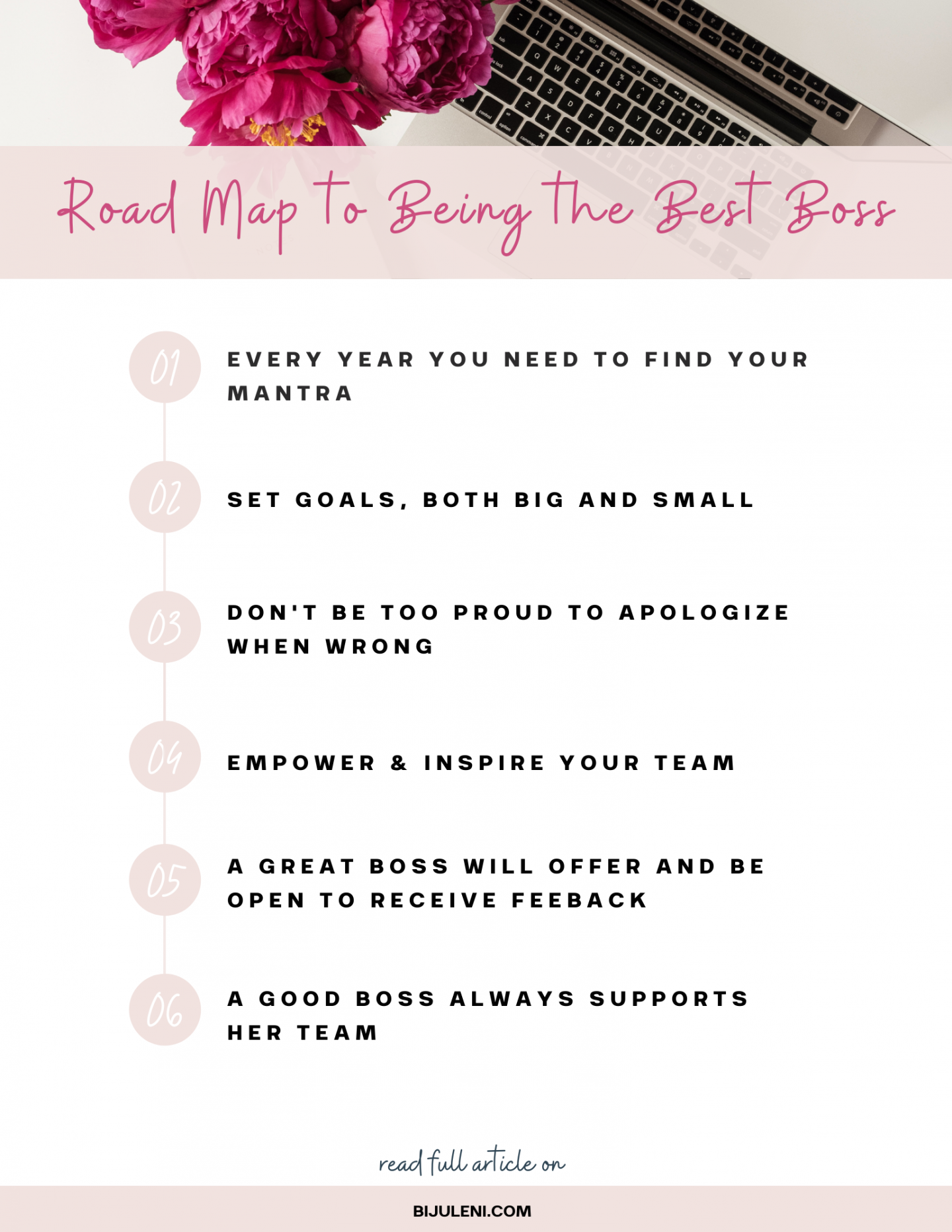 Roadmap of the qualities you need to be a great boss