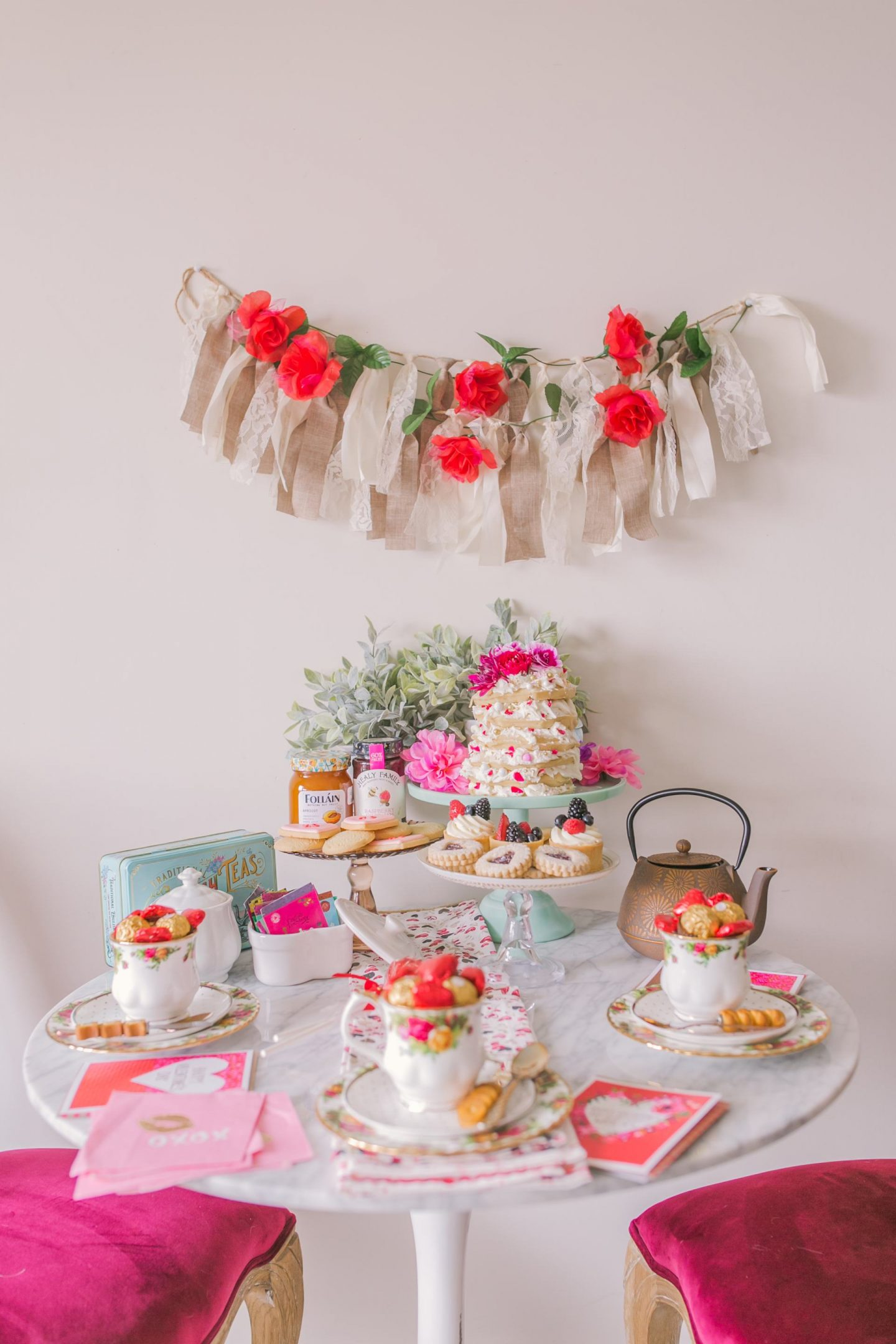 Hosting a Valentine's Day Afternoon Tea Party
