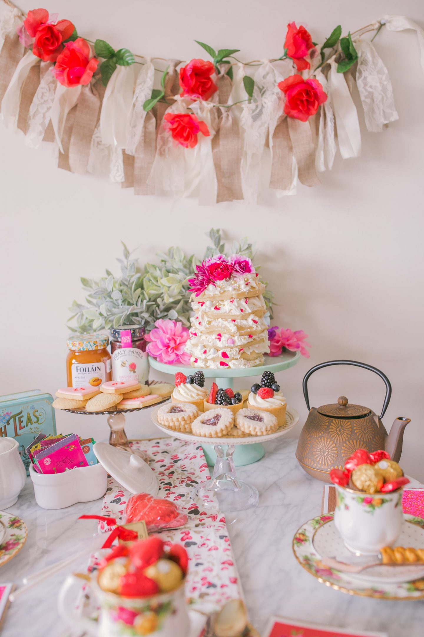 Valentine's Day table set up inspiration decor