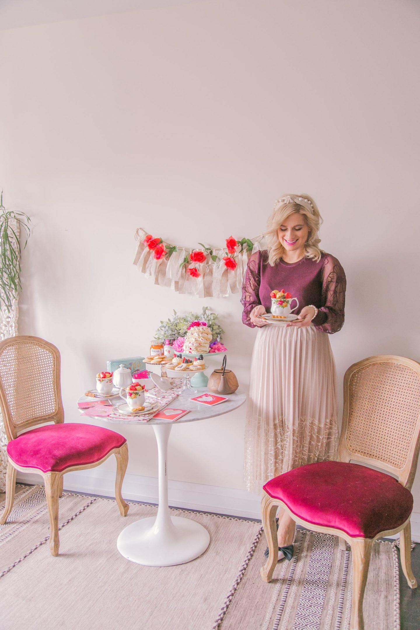 Hosting a girly Valentine's Day Afternoon Tea & Dessert Get Together