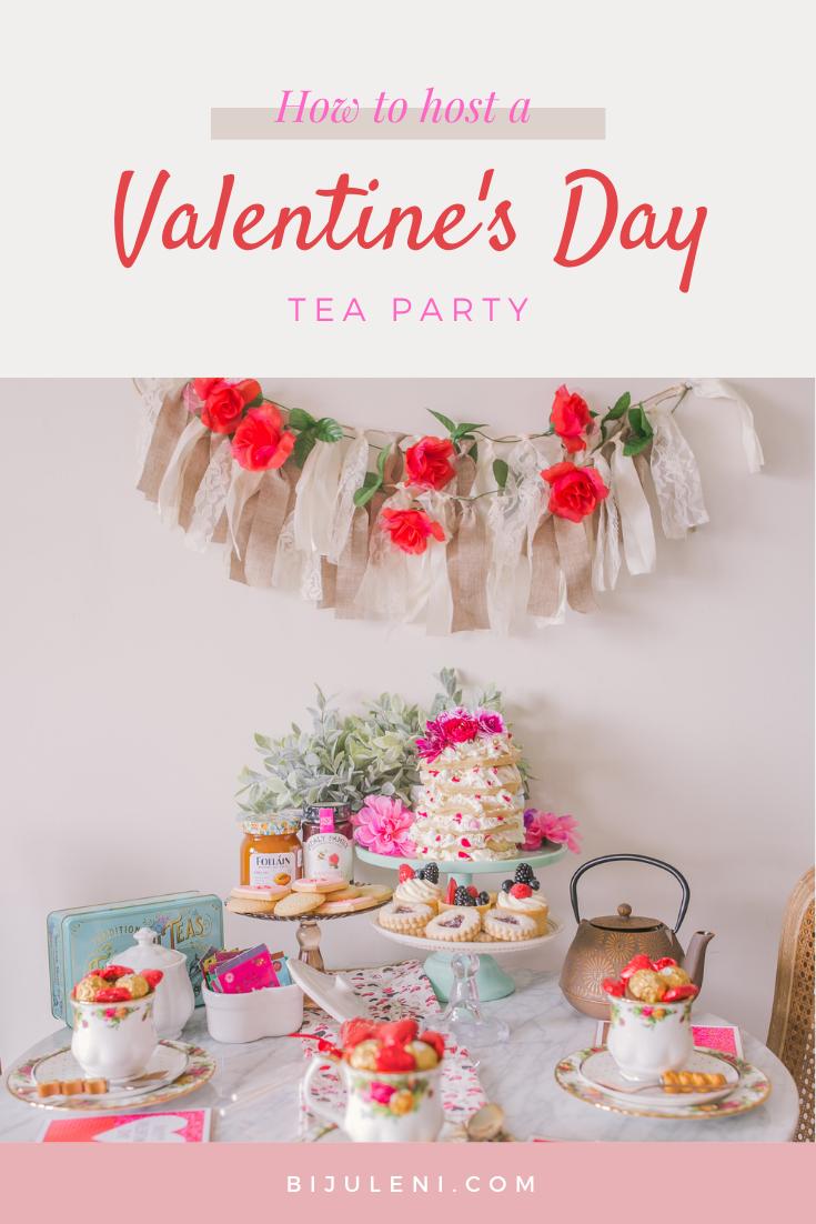 Throwing a fun Valentine's Day Tea & Dessert Party