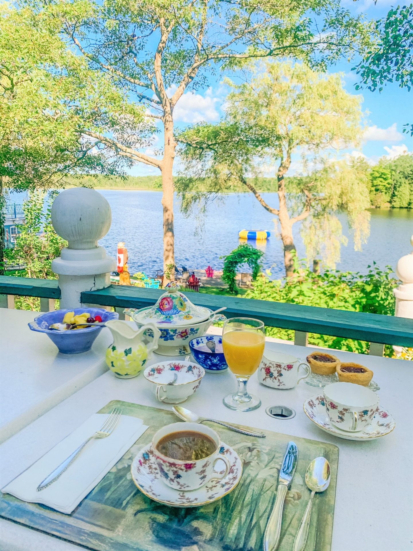 Windswept on the Trent Accommodation is secluded and very peaceful. Breakfast views were incredible