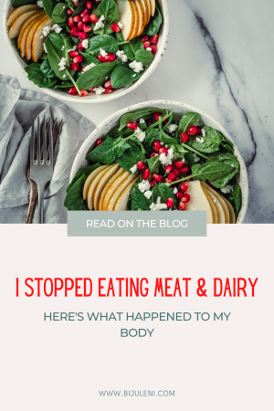 Eliminating my meat and dairy consumption drastically changed my body and my overall mood. Sharing all the positive changes my body went through.